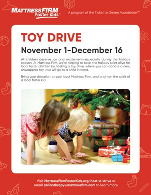 Foster Kids Toy Drive Poster