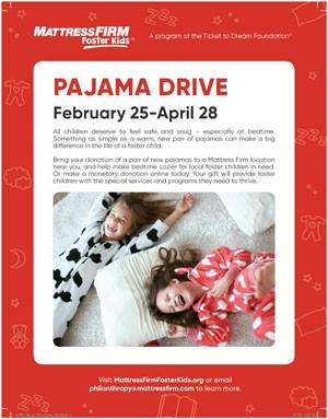 Foster Kids Pajama Drive Poster