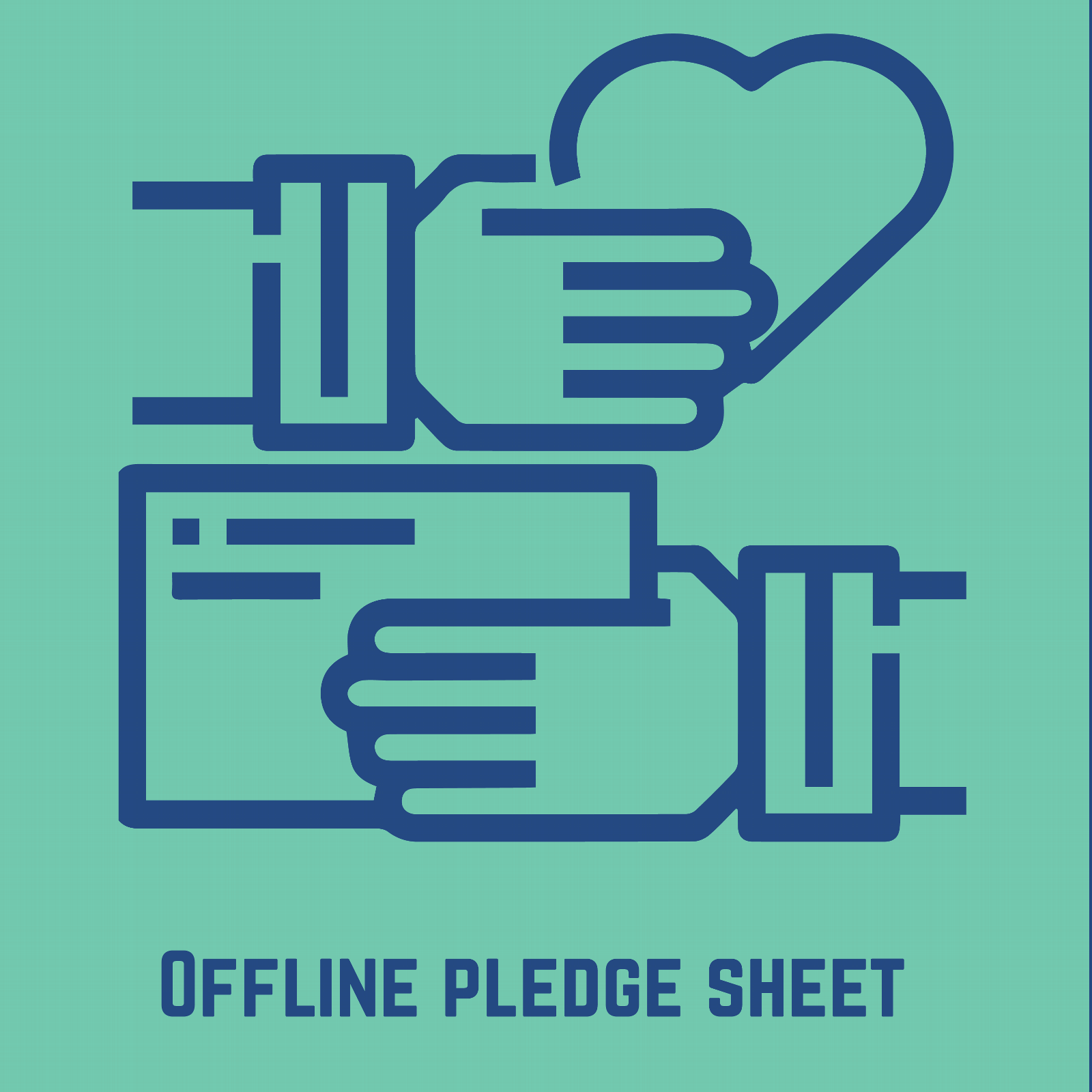 Offline Pledge Sheet
