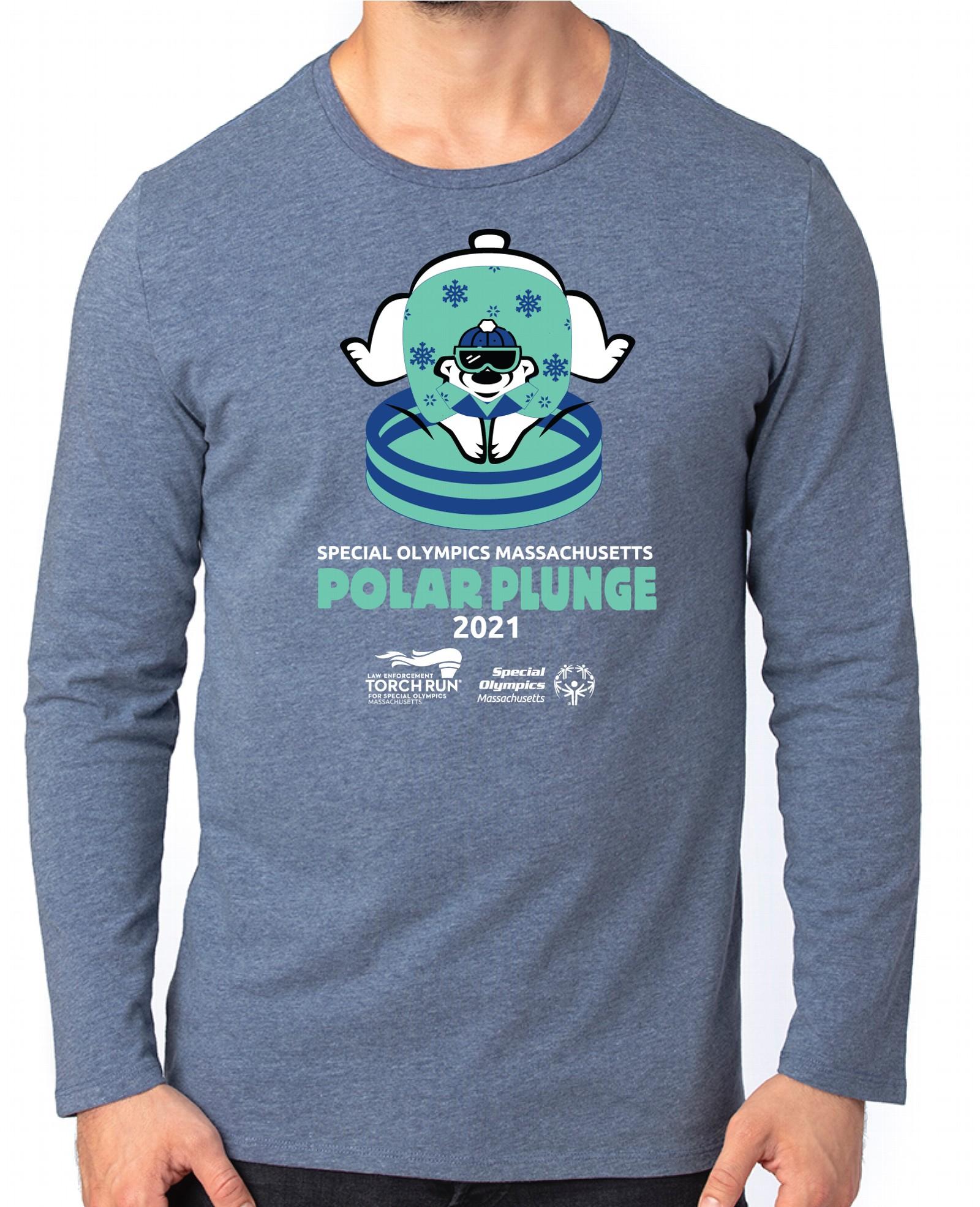 Option 2 Shirt Image - Polar Bear diving into a kiddie pool.