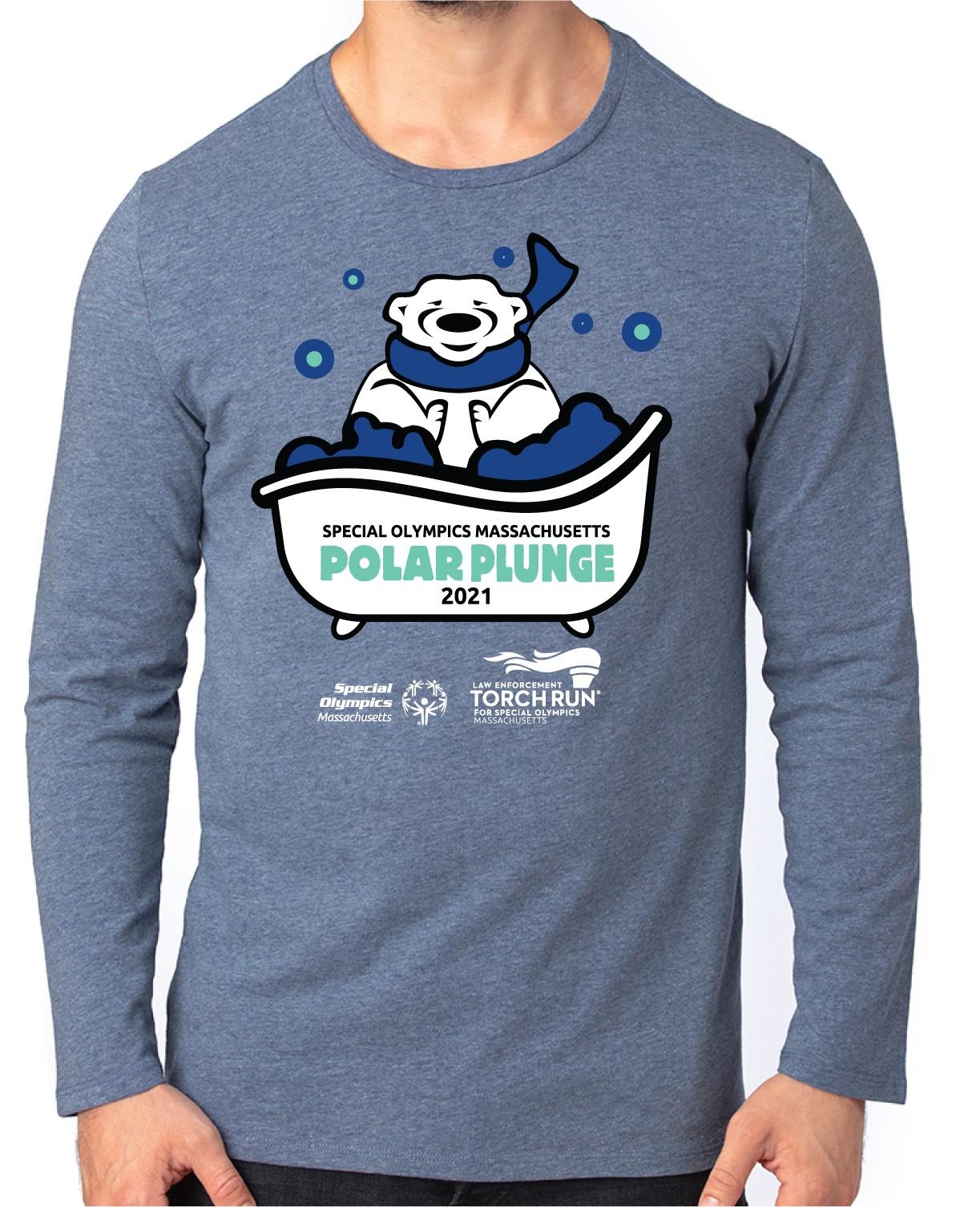Option 1 T-Shirt Design - Polar Bear with scarf in bubble bath.