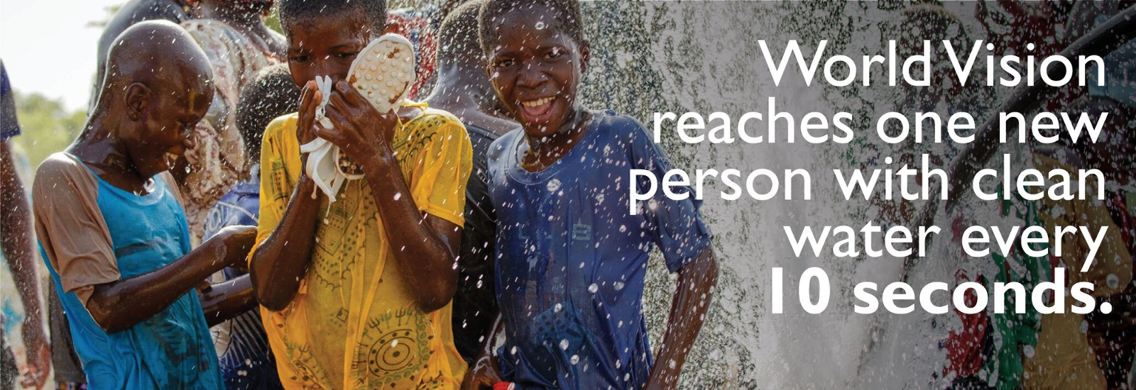 World Vision reaches one new person with clean water every 10 seconds