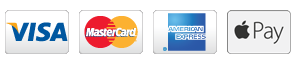 Payment Icons for Visa, MasterCard, American Express, and Apple Pay