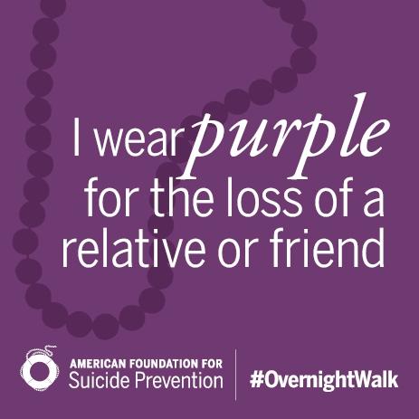 I Wear Purple Beads