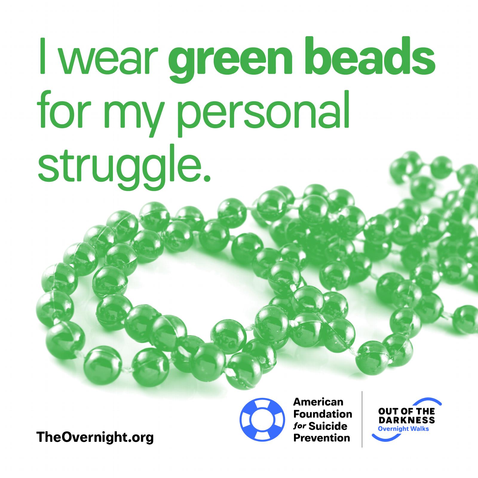 I Wear Green Beads