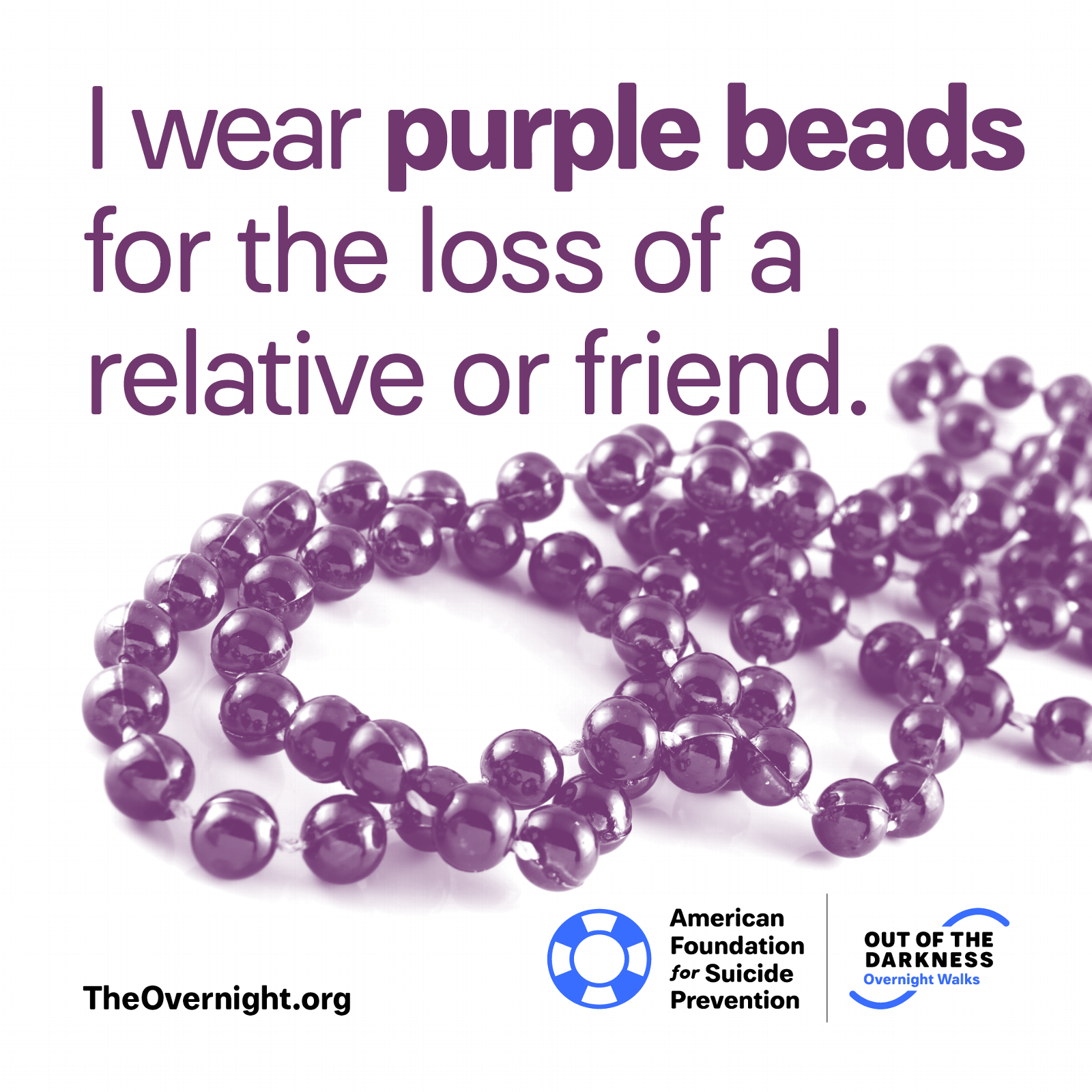 I Wear Purple Beads