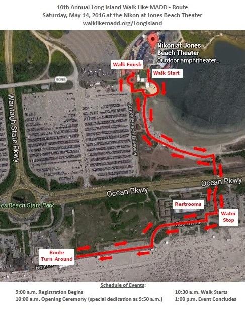 Walk Day Details Parking At The Nikon Jones Beach Theater