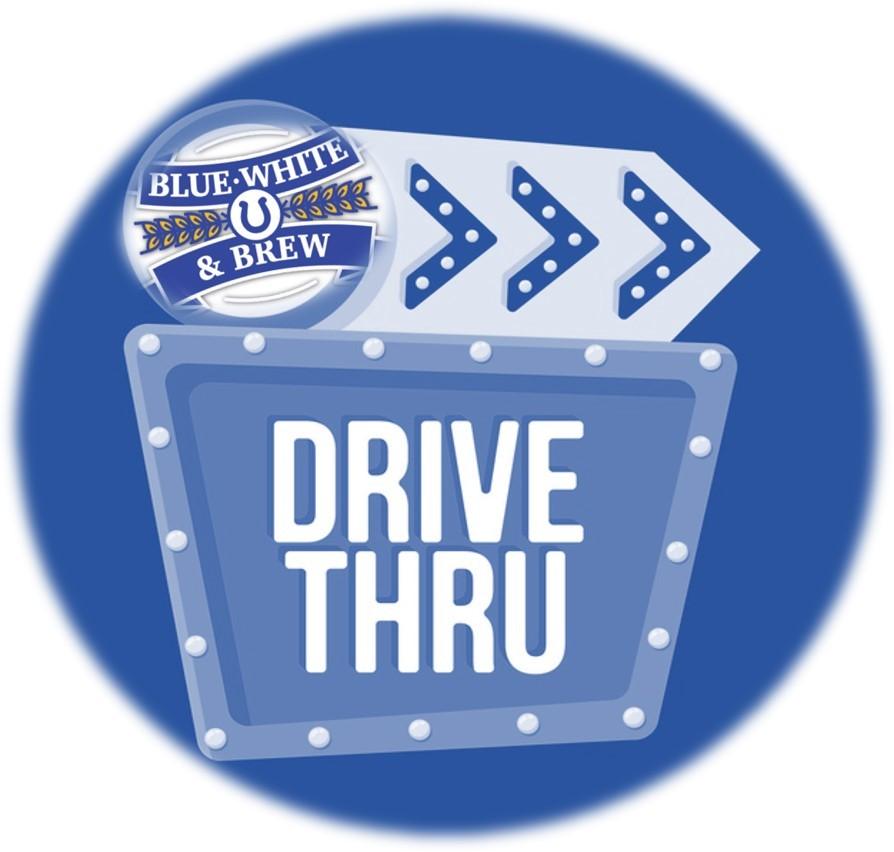 Blue, White & Drive Thru